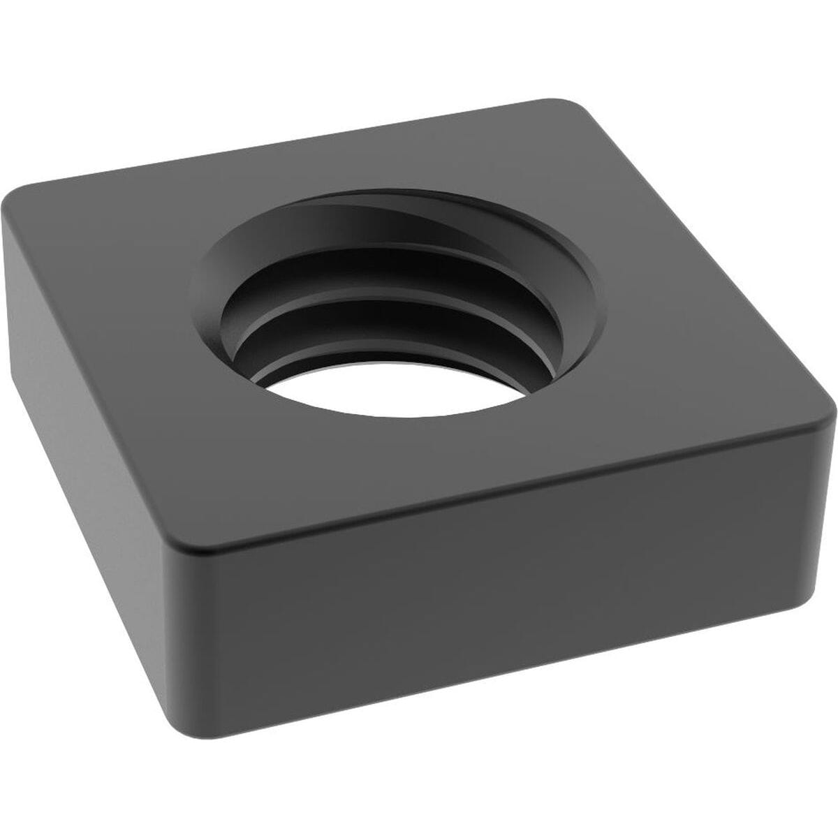 M3 Flat Square Nuts (DIN 562) - Black Marine Stainless Steel (A4)