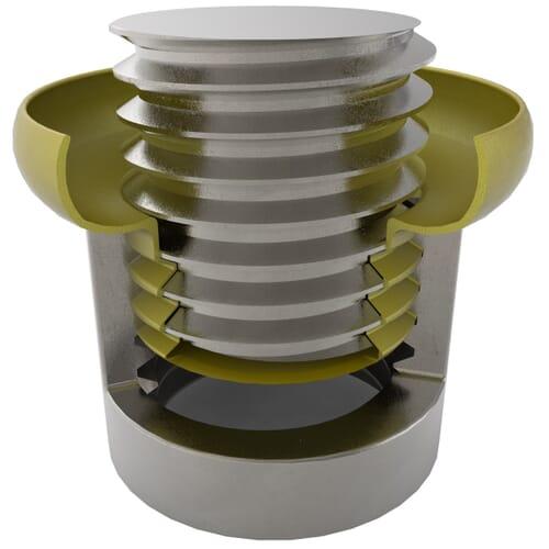10.3mm x 7.5mm Flexiplugs - Yellow PVC