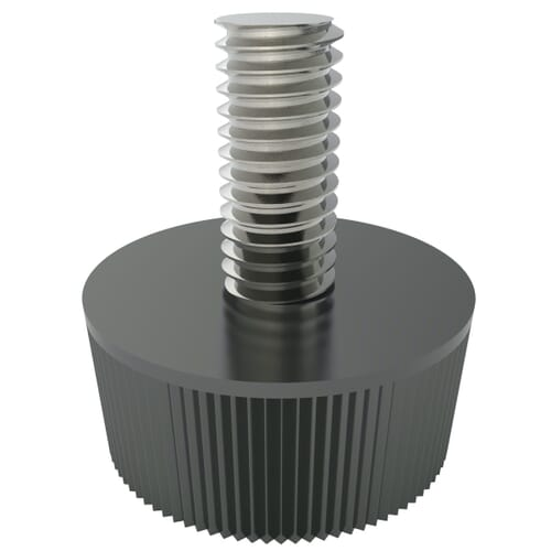 M5 x 15mm Grip Knobs Type 1, (Male) - Black Polyamide