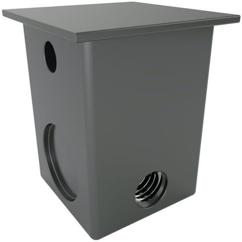 30 x 30mm x M10 x 2mm x 4 Horizontal Inserts For Square Tubes - Black Nylon
