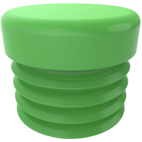 22.2mm Heavy Duty Round Inserts - Green LDPE