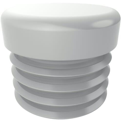 19.5mm Heavy Duty Round Inserts - White LDPE