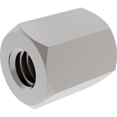 M2 x 12mm x 4mm Threaded Hexagon Spacers - Stainless Steel