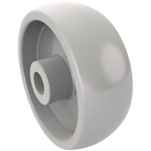 80mm x 22mm Industrial Castor Wheels - White Polyamide
