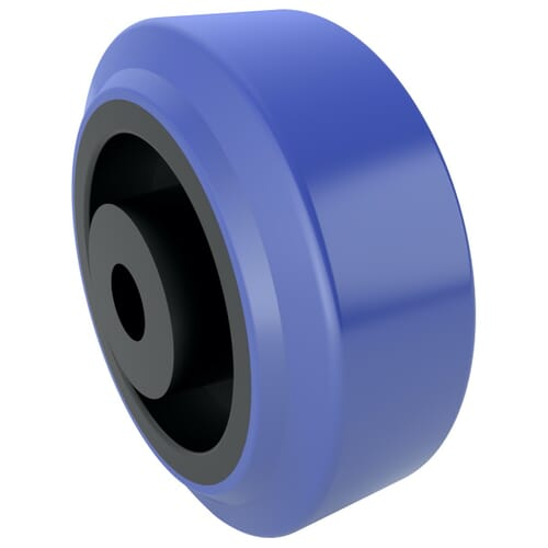 80mm x 36mm Industrial Castor Wheels - Blue Natural Rubber