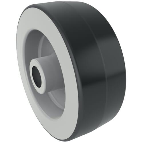 75mm x 24mm Industrial Castor Wheels - Dark Grey Synthetic Rubber