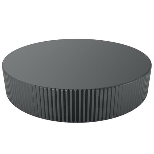 M3 x 5.5mm x 3mm Knurled Knobs - Black Polyacetal