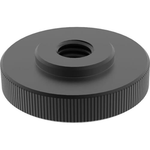 M4 Thin Thumb Nuts (DIN 467) - Black Stainless Steel (A2)
