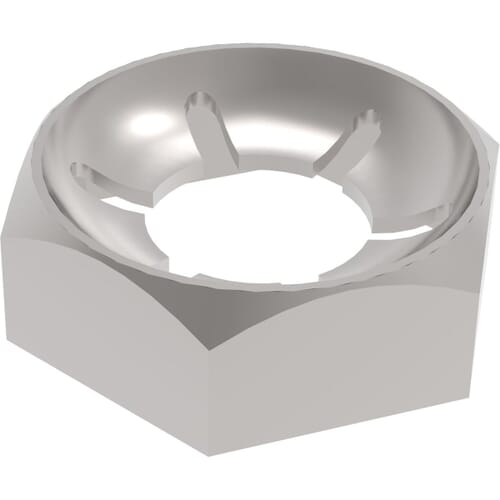 M10 Self Locking Counter / PAL Nuts (DIN 7967) - Stainless Steel (A2)