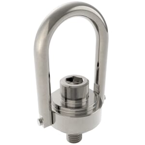 67.80mm x 40.90mm (225kg) Safety Engineered Hoist Rings - Stainless Steel
