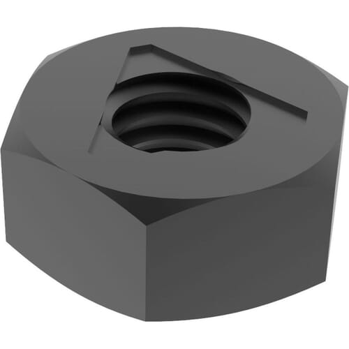 M8 Locking Nuts (DIN 980) - Black Marine Stainless Steel (A4)