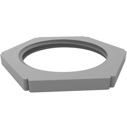 M20 x 1.5mm x 5mm Cable Gland Lock Nuts - Grey Polyamide