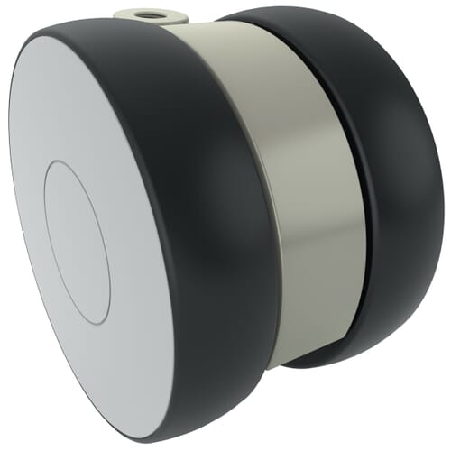 100mm Linea Institutional Castors - Polyamide Wheel Centre with Polyurethane Tread, Unbraked