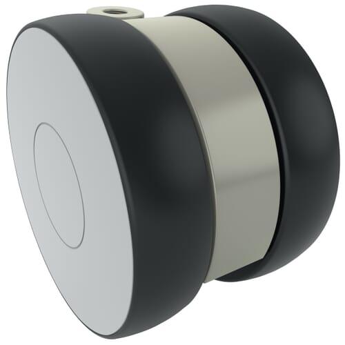 100mm x 73mm Levina Castors - Polyamide Wheel Centre With Polyurethane Tread - Unbraked