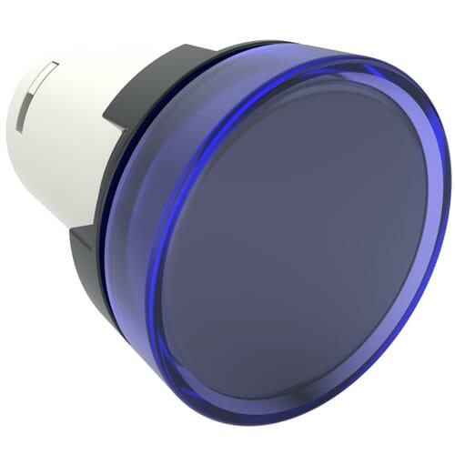 Monoblock Pilot Lights, 220V AC Nominal Voltage - Blue Polyamide