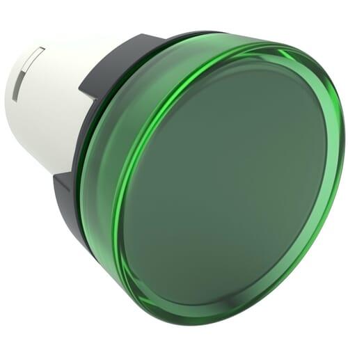Monoblock Pilot Lights, 220V AC Nominal Voltage - Green Polyamide