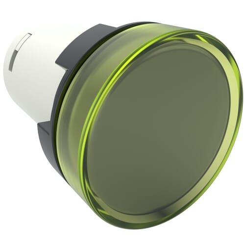 Monoblock Pilot Lights, 220V AC Nominal Voltage - Yellow Polyamide