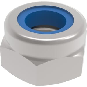 3/8-24 UNF Thin Hexagon Nylon Locking Nuts - Stainless Steel (A2)