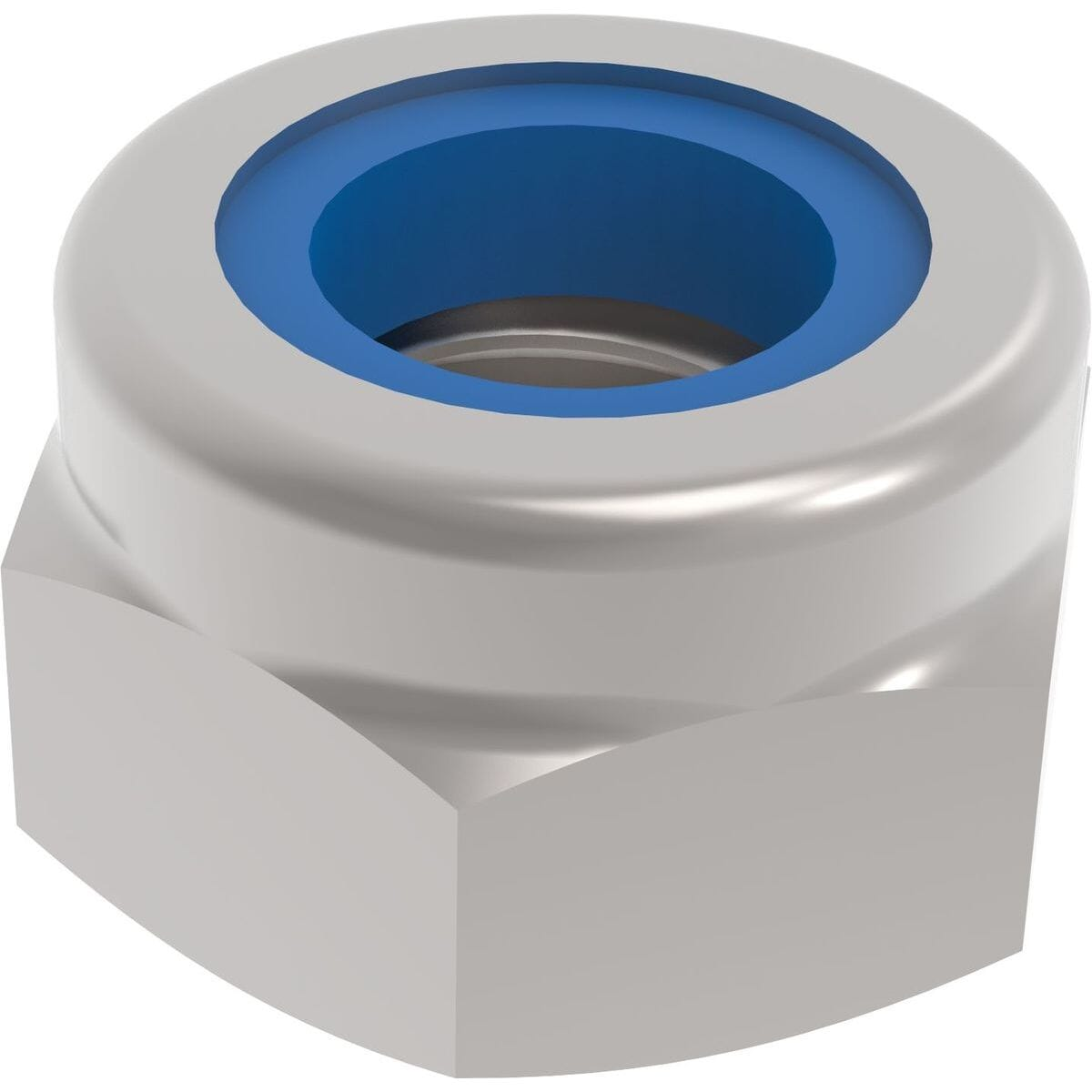 M6 Hexagon Nylon Locking Nuts (DIN 985) - Marine Stainless Steel (A4)