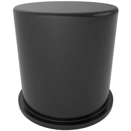 M10 x 15mm x 11mm Nut Protection Caps - Black LDPE