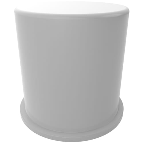 M20 x 48mm x 45mm Nut Protection Caps - White LDPE