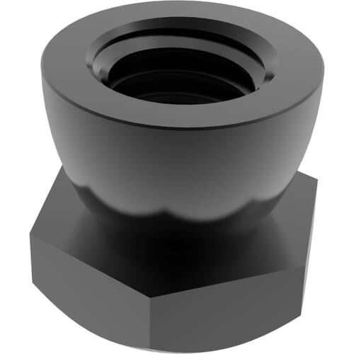 M6 Shear Nuts - Black Stainless Steel (A2)