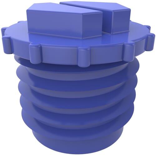 1-14 Inch Open Slottex Plugs - Blue High Density Polyethylene