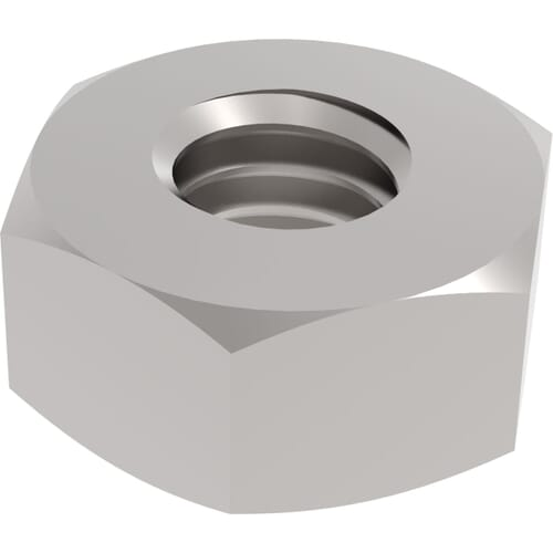 M3 Hexagon Nuts (DIN 934) - Stainless Steel (A2)