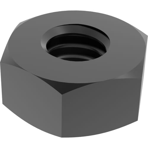 M10 Heavy Hexagon Nuts (UNI 5587) - Black Stainless Steel (A2)