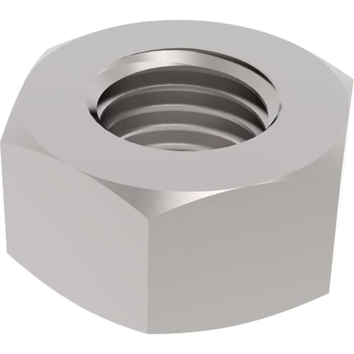 M5 Left Hand Thread Hexagon Nuts (DIN 934) - Stainless Steel (A2)