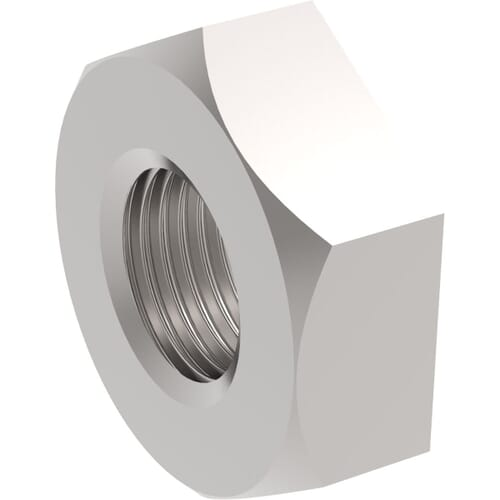 3/8 inch x 27mm A/F Pipe Nuts (DIN 431) - Marine Stainless Steel (A4)