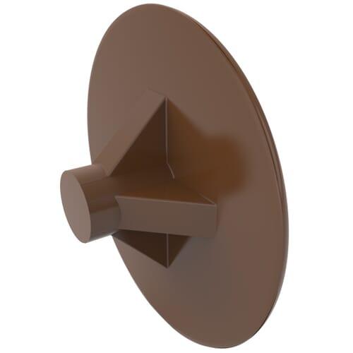 2mm x 12mm Pozidrive Screw Caps - LDPE Clay Brown/8003