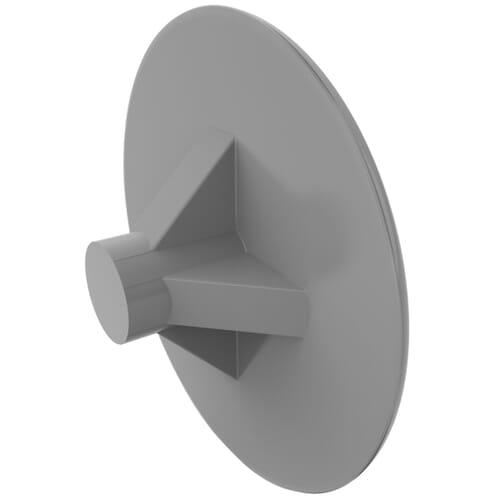 3mm x 13mm Pozidrive Screw Caps - LDPE Silver Grey/7001