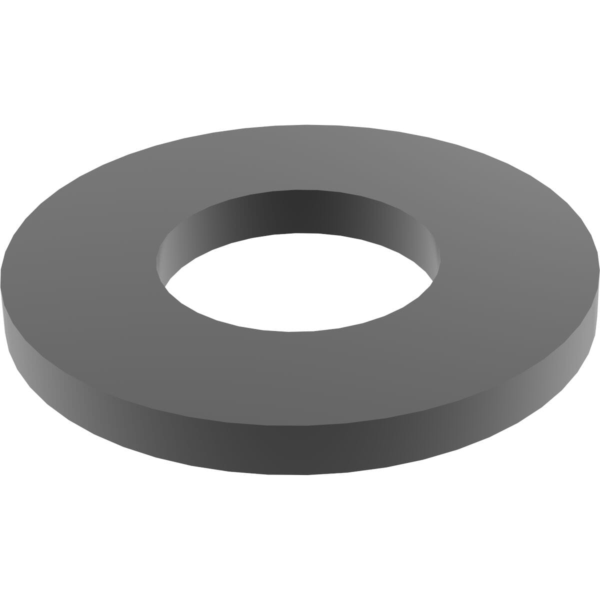M8 Large Series 200HV Flat Washers (ISO 7093-1) - Black Marine Stainless Steel (A4)