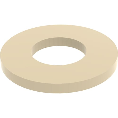 4.3mm x 9mm x 0.8mm Flat Washers - PEEK