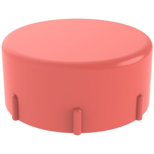 M12 x 1.5 x 12mm Quick-Fit Caps - Red Low Density Polyethylene