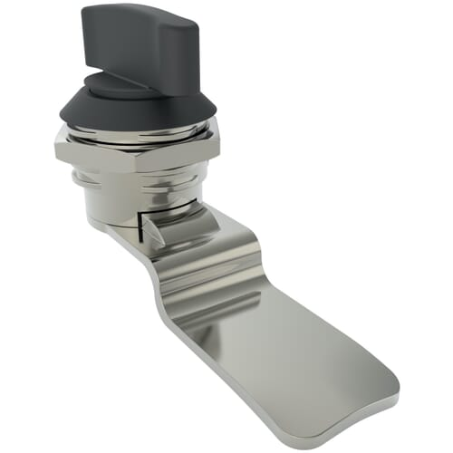 14.5mm Quarter Turn Latches With Wing Knob, Type 3 - Black Powder Coated Die-Cast Zinc Alloy