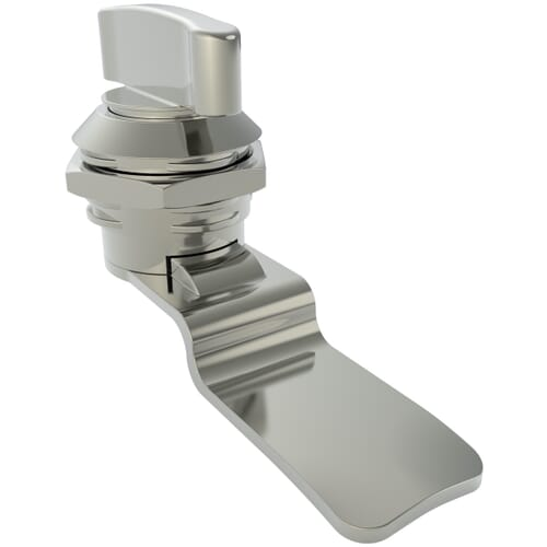 8.5mm Quarter Turn Latches With Wing Knob, Type 3 - Chrome Plated Die-Cast Zinc Alloy