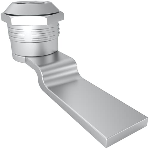 14.5mm Spring Loaded Quarter Turn Lock with 8mm Square Head Style - Chrome Plated Die-Cast Zinc Alloy
