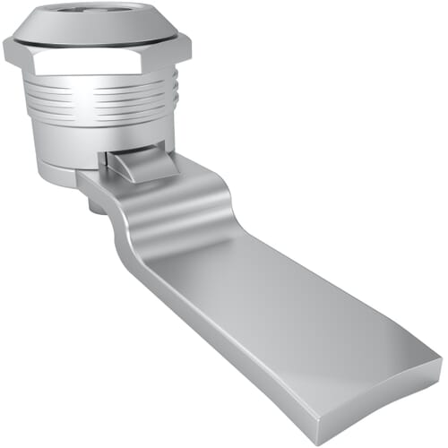 Quarter Turn Locks with 3mm Double Bit Head Style & 20mm Grip Range - Chrome Plated Zinc Alloy