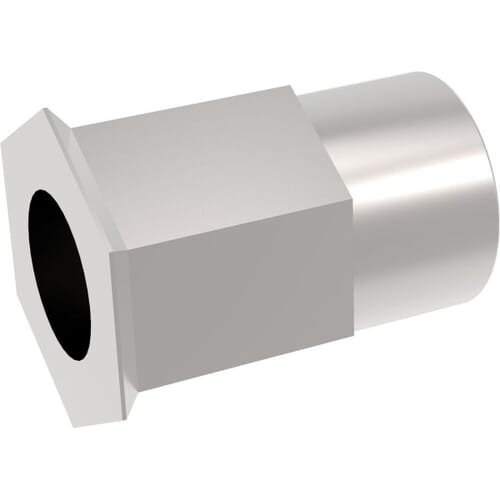 M6 x 16mm Reduced Head Countersunk Rivet Nuts - Stainless Steel (A2)