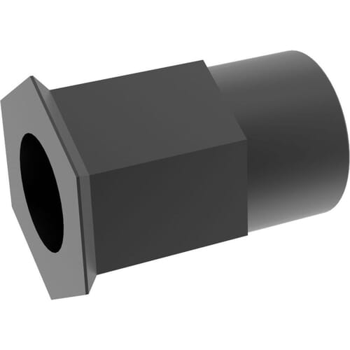 M5 x 14mm Reduced Head Countersunk Rivet Nuts - Black Stainless Steel (A2)