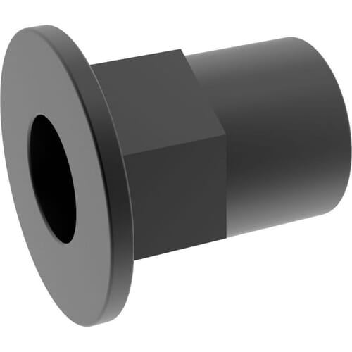 M4 x 11.5mm Flat Hexagon Rivet Nuts - Black Stainless Steel (A2)