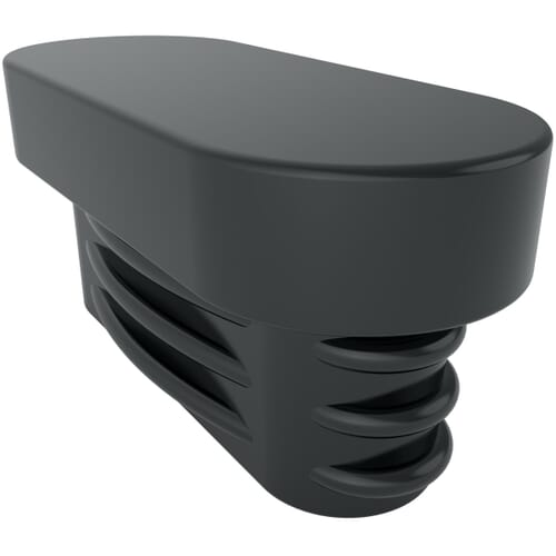 35mm x 15mm Ribbed Oval Inserts - Black PE
