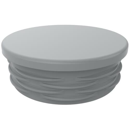 100mm x 28mm x 2-4.5mm Round Ribbed Inserts V2 - Eroded Grey Low Density Polyethylene