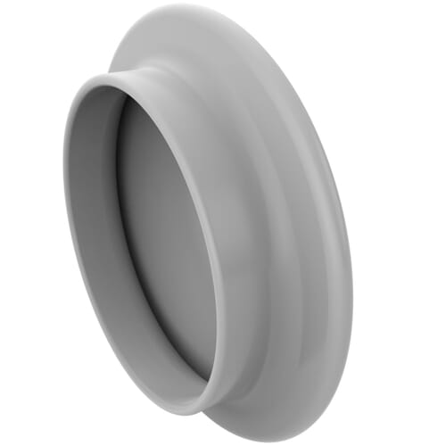 7mm Push Fit Screw Cap Covers - White LDPE