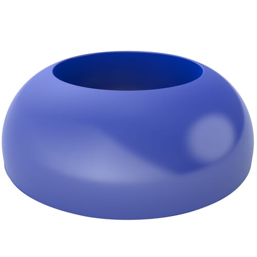 43.0mm x 23.6mm Secure Cover Caps - Blue Polypropylene