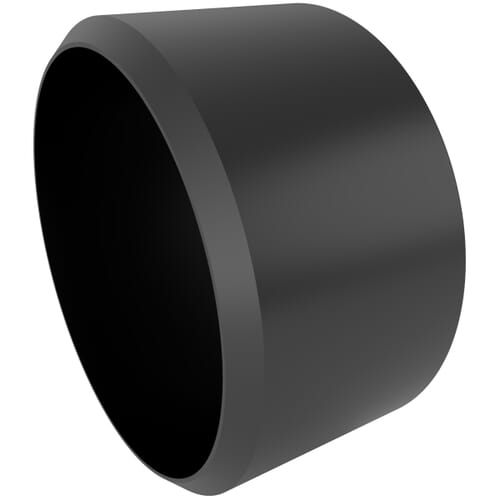 43.0mm x 23.6mm Secure Cover Cap Bases - Black Polypropylene