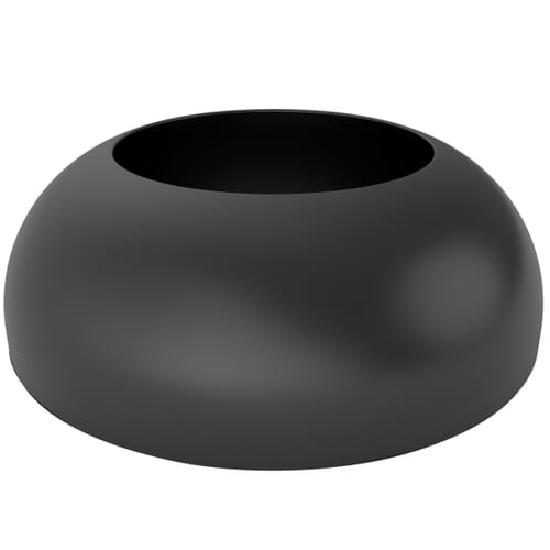 43.0mm x 23.6mm Secure Cover Caps - Black Polypropylene