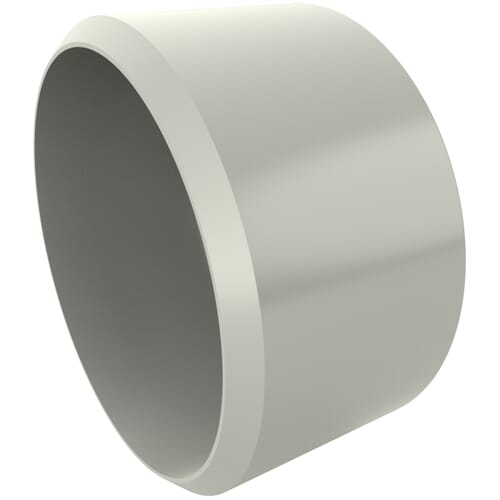 38.0mm x 21.4mm Secure Cover Cap Bases - White Polypropylene